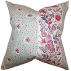 Elske Floral Throw Pillow Color: Sea Green, Size: 20
