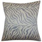 Helaine Zebra Print Throw Pillow Color: Slate, Size: 24