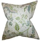 Fflur Floral Bedding Sham Color: Aqua/Green, Size: Queen
