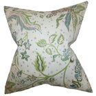 Fflur Floral Throw Pillow Color: Aqua Green, Size: 20