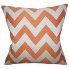 Diahann Chevron Throw Pillow Color: Orange, Size: 20