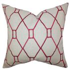 Nevaeh Geometric Throw Pillow Color: Red, Size: 20