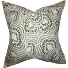 Glynis Floral Cotton Throw Pillow Color: Olive Green, Size: 20