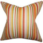 Pemberton Stripes Bedding Sham Color: Orange, Size: Euro
