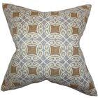 Warren Geometric Cotton Throw Pillow Color: Silver, Size: 24