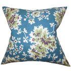 Danique Floral Throw Pillow Color: Blue, Size: 20