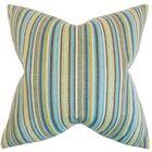 Janan Stripes Throw Pillow Color: Aqua, Size: 22