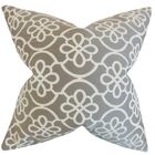 Chaplain Contemporary Geometric Bedding Sham Size: Queen, Color: Gray
