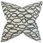 Razili Geometric Throw Pillow Color: Ebony, Size: 24