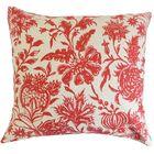 Bionda Floral Bedding Sham Color: Red, Size: Standard