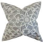 Brinley Geometric Cotton Throw Pillow Color: Platinum, Size: 24