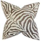 Delrico Zebra Print Bedding Sham Color: Cocoa, Size: King