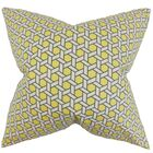 Destry Geometric Cotton Throw Pillow Color: Yellow, Size: 24