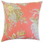 Taja Floral Linen Throw Pillow Color: Festival, Size: 22