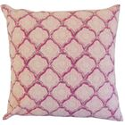 Padma Geometric Cotton Throw Pillow Color: Raspberry, Size: 22