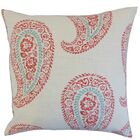 Neith Paisley Throw Pillow Color: Coral, Size: 22