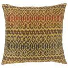 Dehateh Ikat Throw Pillow Color: Tiki, Size: 20
