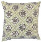 Delit Geometric Bedding Sham Size: Queen, Color: Lime