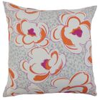 Ohara Throw Pillow Color: Tangerine, Size: 24