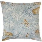 Ender Graphic Linen Throw Pillow Color: Blue, Size: 22