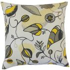 Qiana Cotton Throw Pillow Color: Citrine, Size: 24