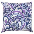 Michal Floral Throw Pillow Color: Plum, Size: 22