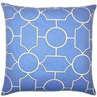 Samoset Geometric Bedding Sham Color: Chambray, Size: Standard