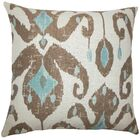Eitan Ikat Throw Pillow Color: Aqua Cocoa, Size: 24