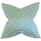 Daphnis Geometric Throw Pillow Size: 24