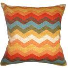 Gail Zigzag Cotton Throw Pillow Size: 24