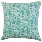 Lily Geometric Bedding Sham Color: Aquamarine, Size: King