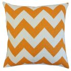 Maillol Zigzag Linen Throw Pillow Size: 20