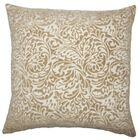 Taline Damask Throw Pillow Color: Toffee, Size: 22