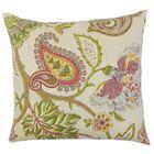 Julitte Floral Linen Throw Pillow Size: 22
