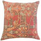 Magee Damask Bedding Sham Size: Queen, Color: Cranberry