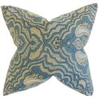Wystan Throw Pillow Color: Blue, Size: 22