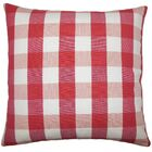 Nelson Plaid Bedding Sham Size: Standard, Color: Cherry