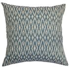 Delmer Ikat Bedding Sham Color: Denim, Size: Queen