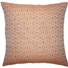 Calanthe Geometric Throw Pillow Color: Melon, Size: 22
