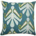 Berke Ikat Throw Pillow Color: Aqua Green, Size: 20
