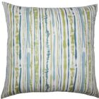 Jumoke Striped Cotton Throw Pillow Color: Aqua Green, Size: 24