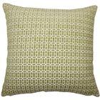 Qiao Geometric Throw Pillow Color: Kiwi, Size: 22