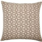Gzifa Ikat Throw Pillow Color: Brown, Size: 24