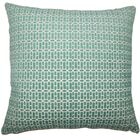 Qiao Geometric Throw Pillow Color: Turquoise, Size: 24