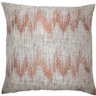 Fleta Ikat Throw Pillow Color: Melon, Size: 22