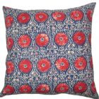 Xaria Floral Throw Pillow Color: Red Blue, Size: 22