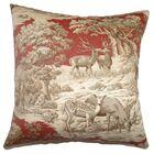 Elijah Toile 100% Cotton Floor Pillow
