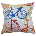 Lankford Bicycles Floor Pillow Color: Blue/Yellow