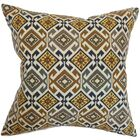 Durand Geometric Floor Pillow Color: Black/Brown