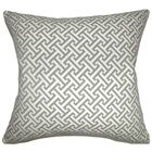 Corley Geometric Floor Pillow Color: Ashes